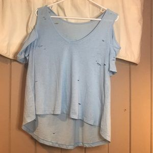 Lorna Jane Loose Fitting Cold Shoulder T-Shirt